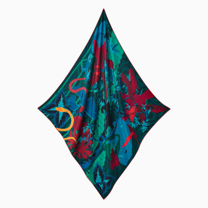 shop feliae underworld 90 silk scarf blue ecuador packshot now