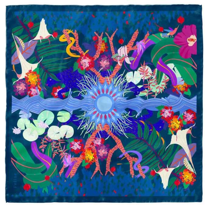 shop feliae dusk 90 silk scarf morocco packshot now